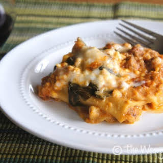Slow Cooker Turkey and Spinach Lasagna.