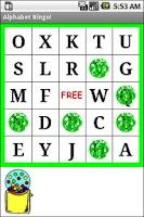 Screenshot of Alphabet Bingo