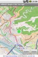 Screenshot of Hill4GIS OSM Viewer (Demo)