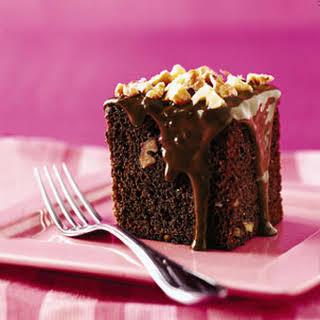 Chocolate-Banana Cake with Walnuts.