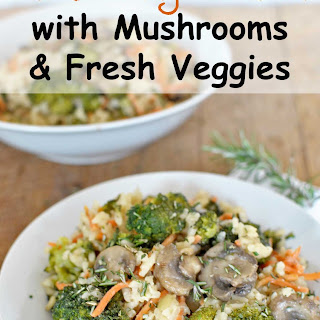 Rosemary Risotto with Mushrooms and Fresh Veggies