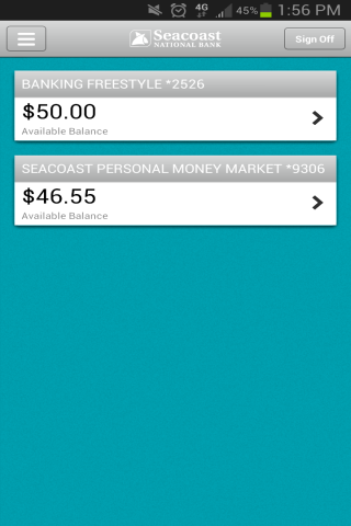 Seacoast Personal Banking - screenshot