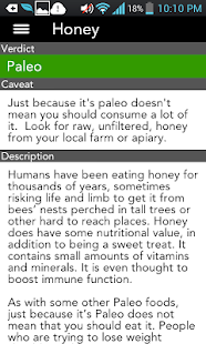 The Paleo List- screenshot thumbnail