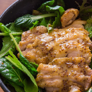 Grilled Chicken with Honey Mustard Dressing.