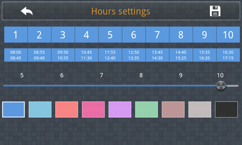 Quick TimeTable - screenshot