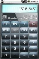 Screenshot of Inches & Feet Calculator