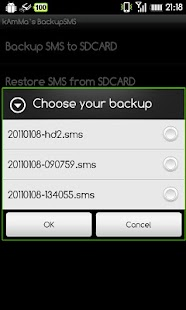 BackupSMS- screenshot thumbnail