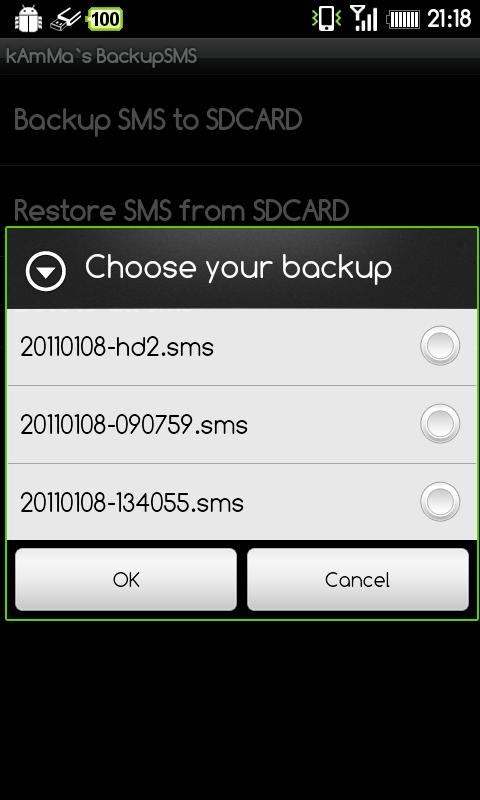 BackupSMS - screenshot