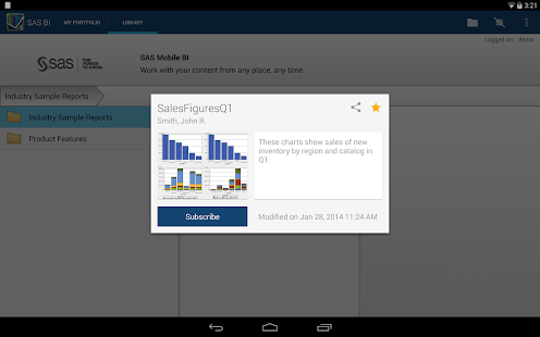 SAS® Mobile BI - screenshot thumbnail