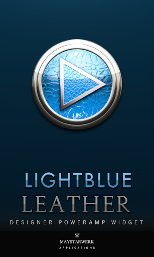 Poweramp Widget Lightblue Leat