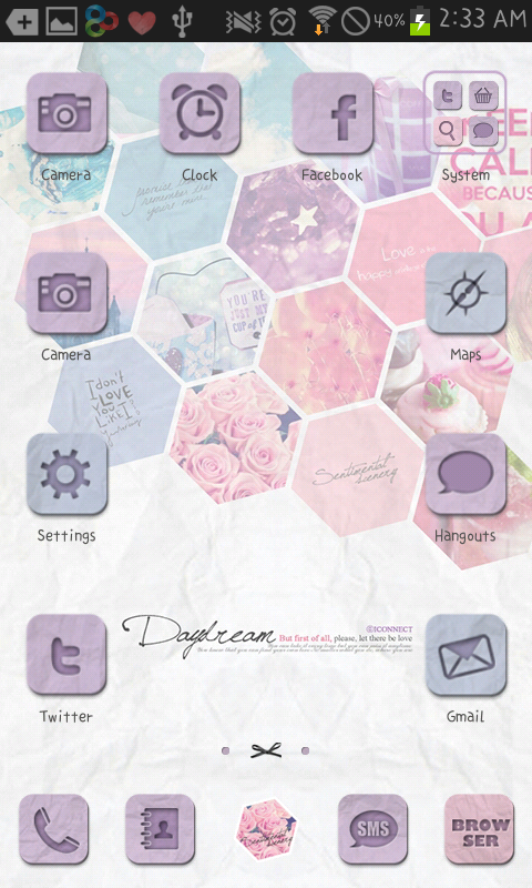 Daydream go launcher theme - screenshot