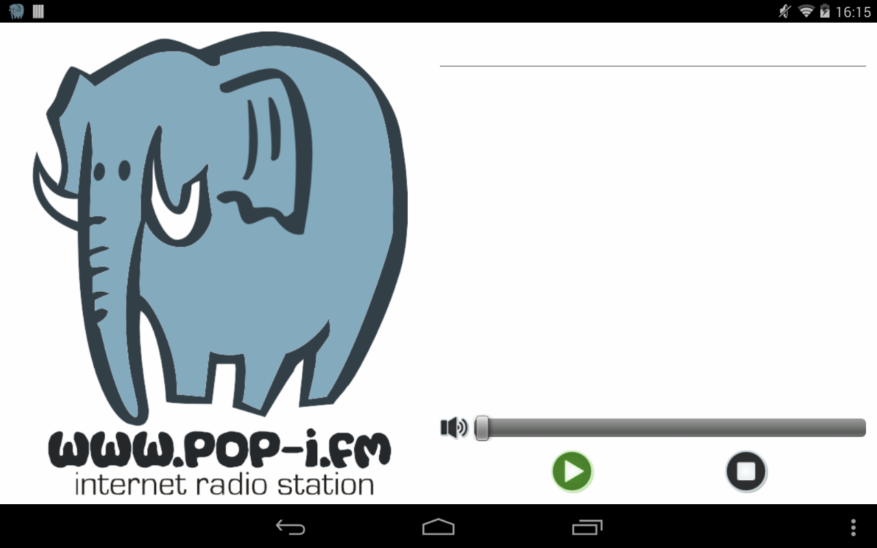 pop-i fm internet radio- screenshot