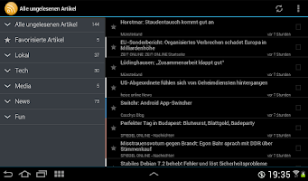 Screenshot of ownCloud News Reader