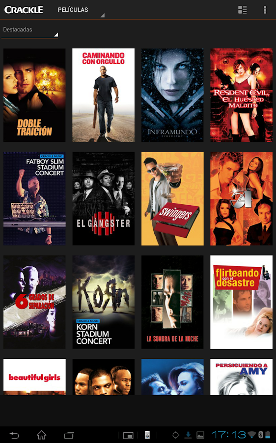 Crackle - Películas Gratis: captura de pantalla