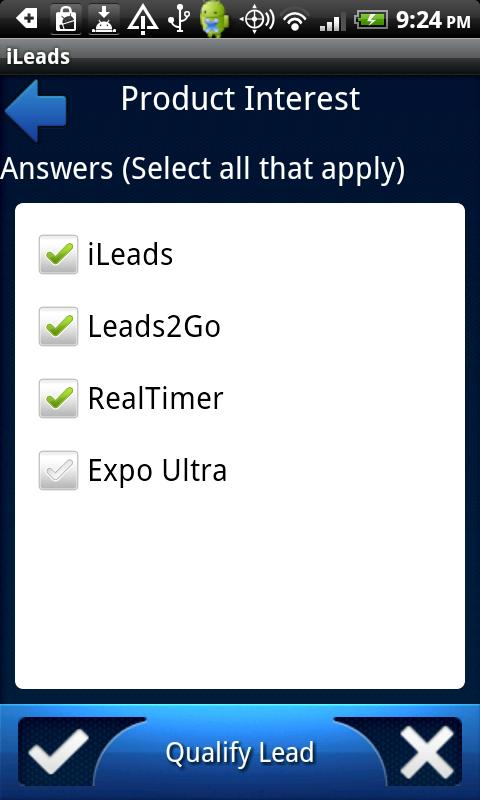 iLeads - screenshot