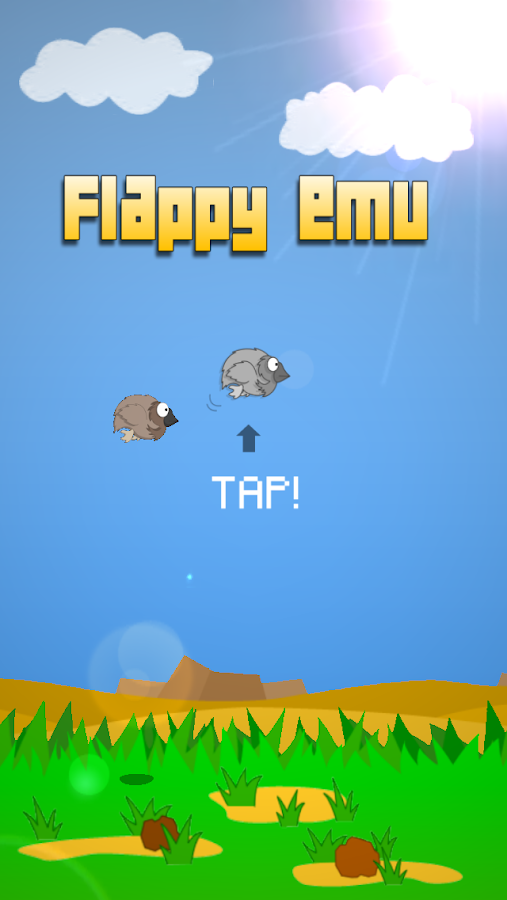 Flappy Emu- screenshot