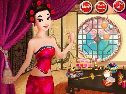 亞洲公主遊戲的女孩