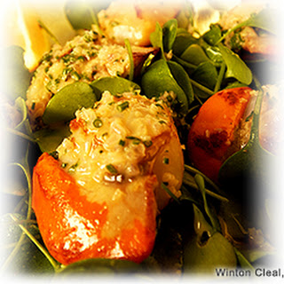 Scallops With Cider Vinegar Butter Sauce