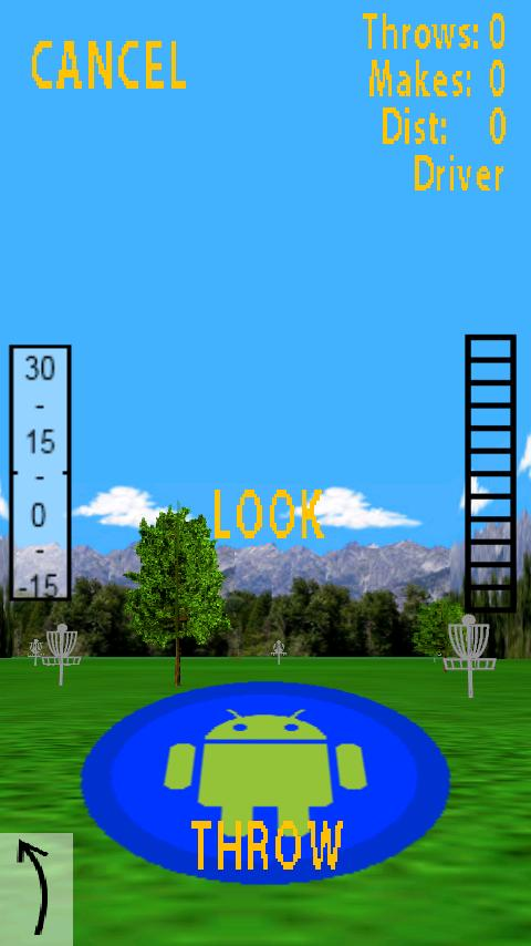 Droid Disc Golf- screenshot