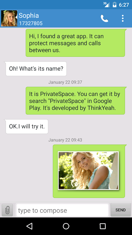 Private Space Pro- SMS&Contact- screenshot