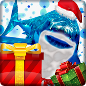 Angry Shark Pet Christmas Skin