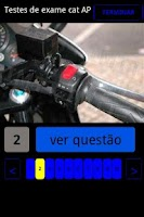 Screenshot of Testes de Exame Motociclos