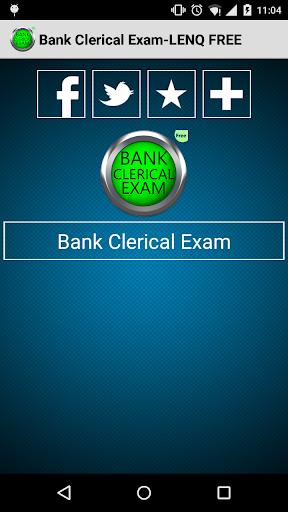 Bank Clerical Exam-LENQ FREE
