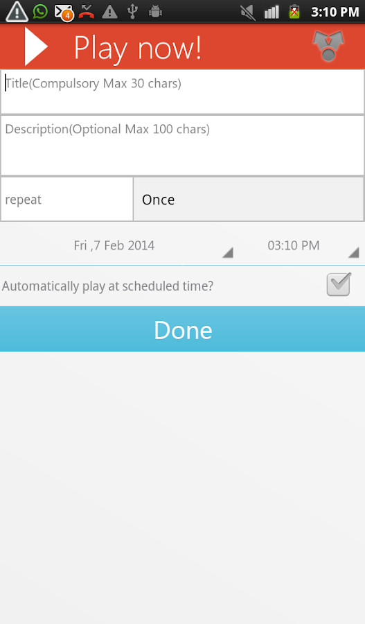 Auto Voice Reminder - screenshot