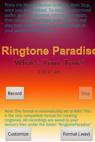 RPD Make Your Own Ringtone