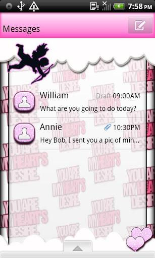 GO SMS THEME ValentinesDay4U2