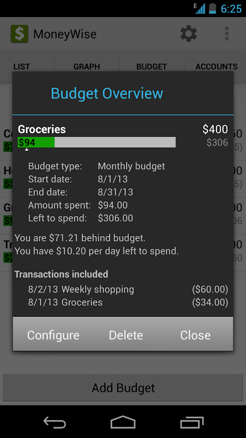 MoneyWise - screenshot