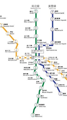 【免費交通運輸App】札幌市営地下鉄路線図-APP點子