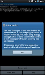SMS Limit Remover - screenshot thumbnail