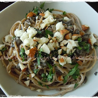 Pasta with Mushrooms.