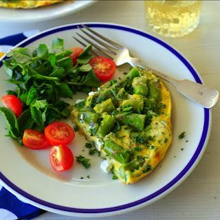 Organic Italian Frittata with Asparagus