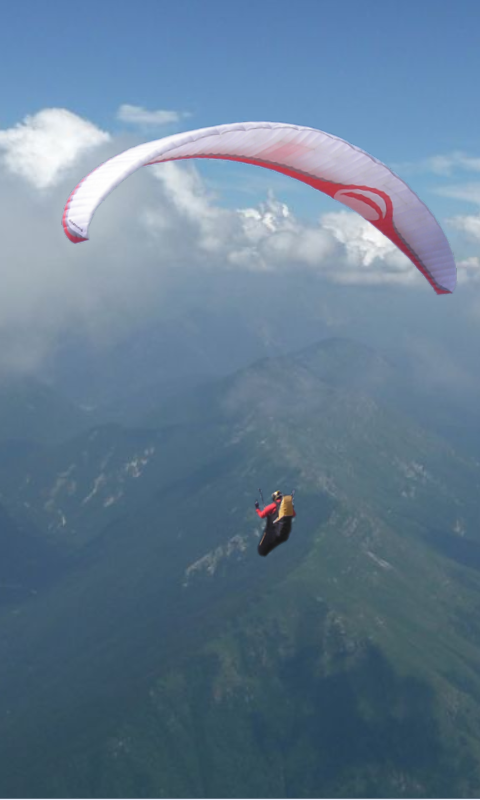 paragliding clouds