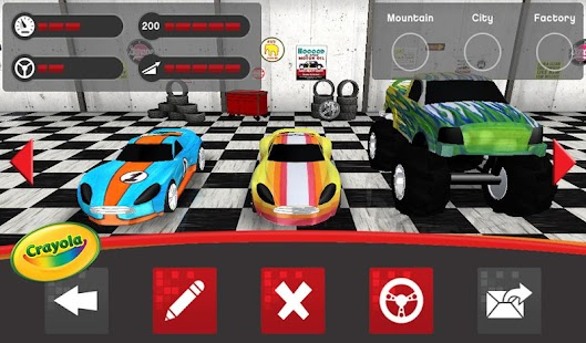 Crayola design drive android apps on google play for Virtual garage designer
