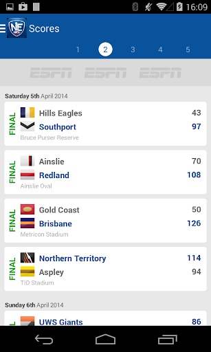 Official NEAFL App