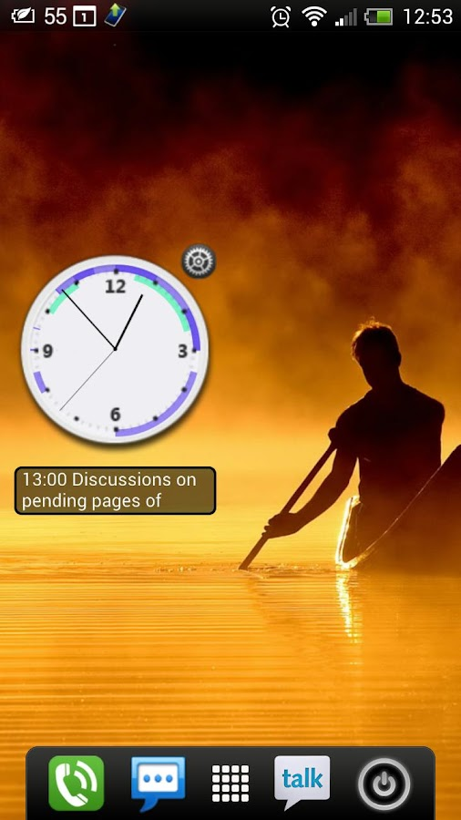 Business Clock Widget - Free - screenshot