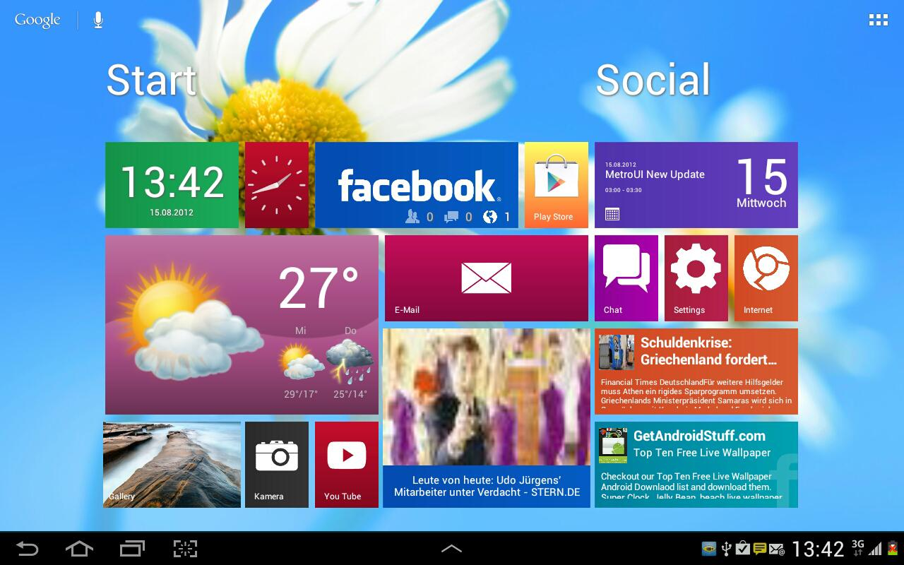 Metro Ui HD Widget Tile Win 8- screenshot