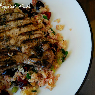 Pork Chops with Cherry Couscous.
