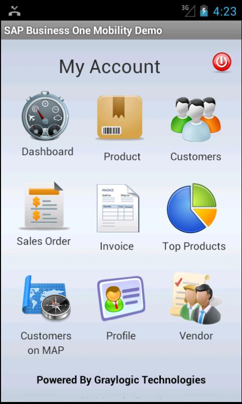 SAP Business One Mobility Demo- screenshot