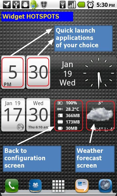 Sense Analog Small Clock 4x1 - screenshot