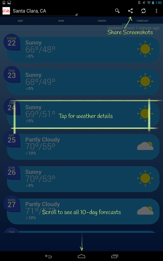 DISH NETWORK Weather - screenshot
