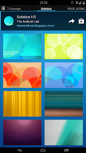 Solstice (adw apex nova icons) - screenshot