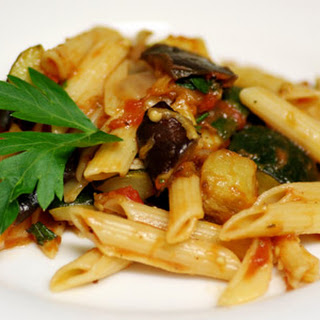 Pasta with Roasted Provencal Vegetable Sauce.