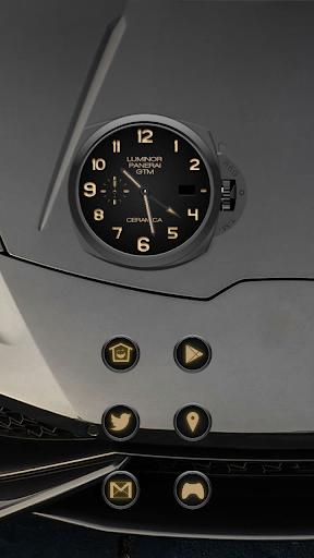 金屬光澤腕錶主題
