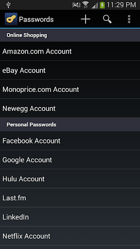 Keyfob Password Manager
