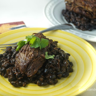 Ancho Chile Tri Tip and Black Beans
