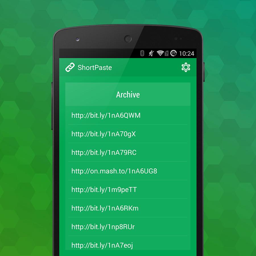 Screenshots of ShortPaste - Autoshorten URLs for iPhone
